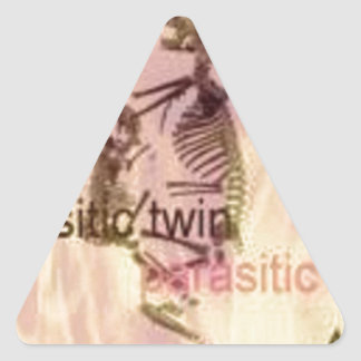 Fire and Parasite Triangle Sticker