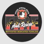 Fire and Rescue Classic Round Sticker