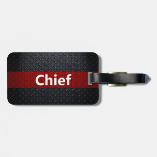 Fire and Rescue Diamond Plate Bag Tag