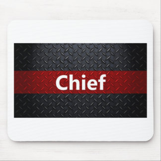 Fire and Rescue Diamond Plate Mouse Pad
