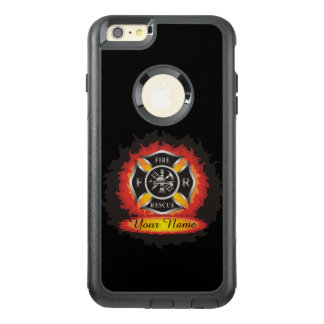 Fire and Rescue Flames Firefighter Personalized OtterBox iPhone 6/6s Plus Case