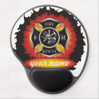 Fire and Rescue Gel Mouse Pad