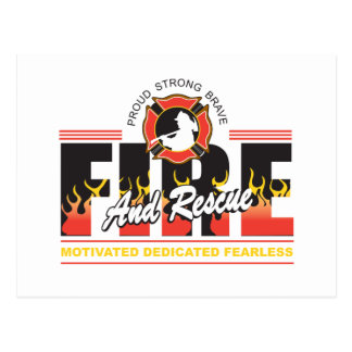 Fire and Rescue Postcard