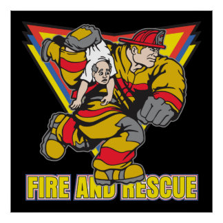Fire and Rescue Poster