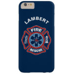 Fire and Rescue Red and Blue Barely There iPhone 6 Plus Case
