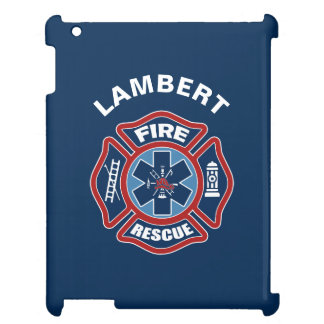 Fire and Rescue Red and Blue Case For The iPad 2 3 4