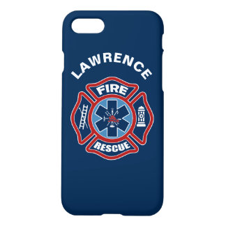 Fire and Rescue Red and Blue iPhone 8/7 Case