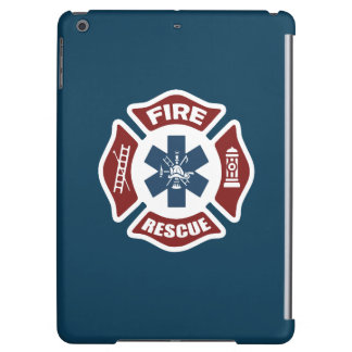 Fire and Rescue Red White and Blue Cover For iPad Air