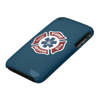 Fire and Rescue Red White and Blue iPhone 3 Case