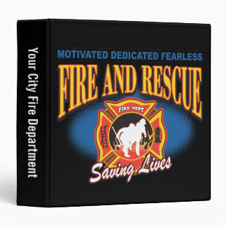 Fire and Rescue Saving Lives 3 Ring Binder