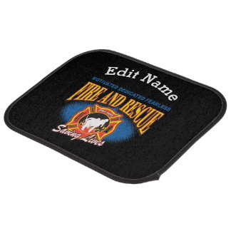 Fire and Rescue Saving Lives Car Mat