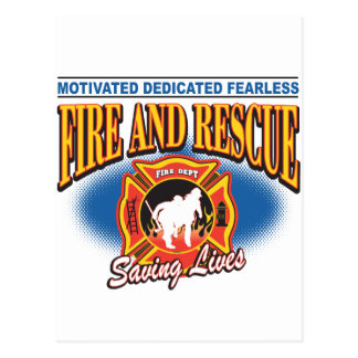 Fire and Rescue Saving Lives Postcard