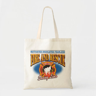 Fire and Rescue Saving Lives Tote Bag