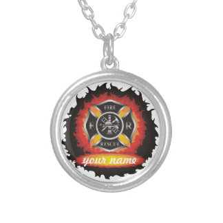 Fire and Rescue Silver Plated Necklace