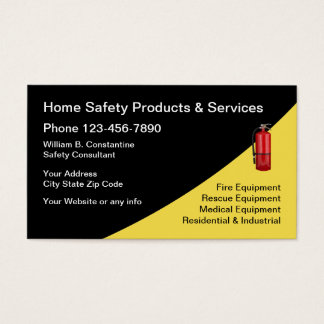 Fire And Safety Equipment Business Card