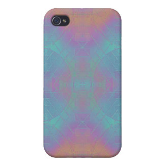 Fire and Sea - Pink and Blue Abstract iPhone 4/4S Cover