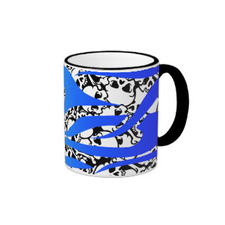 fire and skulls ringer coffee mug