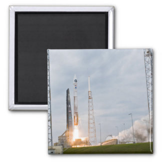 Fire and smoke signal the liftoff 2 inch square magnet