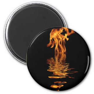 fire and water 2 inch round magnet