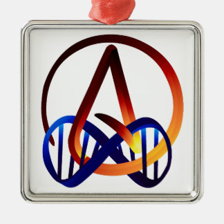 Fire and Water Atheist Forever Metal Ornament