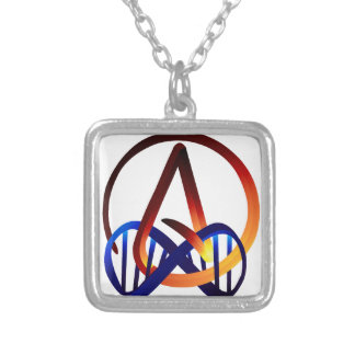Fire and Water Atheist Forever Silver Plated Necklace