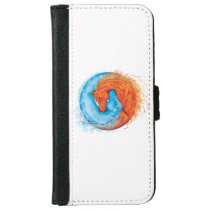 Fire and Water Elemental Horses iPhone 6/6s Wallet Case