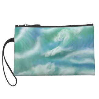 Fire And Water Horses Wristlet Wallet