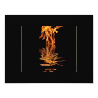 fire and water 4.25x5.5 paper invitation card