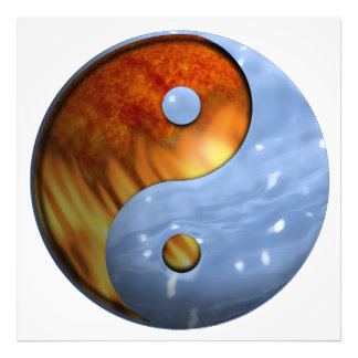 Fire and Water Yin and Yang Symbol Photo