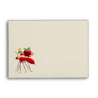 Fire Ant and Picnic Apple Envelope