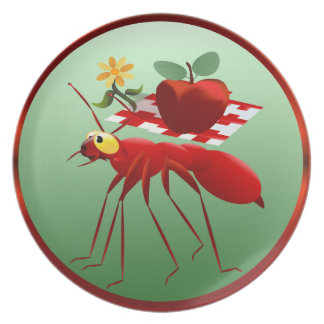 Fire Ant and Picnic Apple Plate