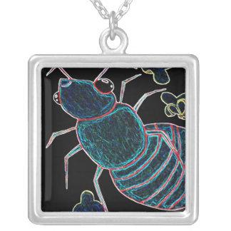 Fire Ant Square Pendant Necklace