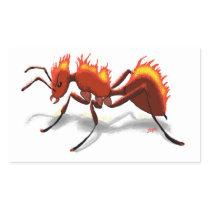 Fire Ant Rectangular Sticker
