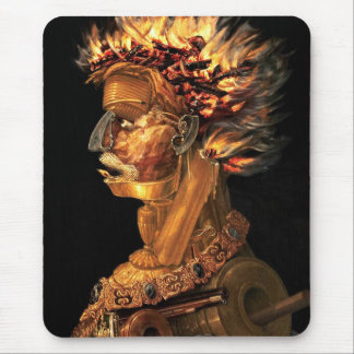 Fire - Arcimboldo's bizarre head profile Mouse Pad