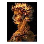 Fire - Arcimboldo's bizarre head profile Post Card