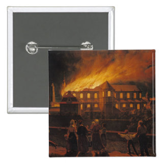 Fire at Cambrai Cathedral, 9th September 1859 Pinback Button