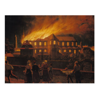Fire at Cambrai Cathedral, 9th September 1859 Postcard