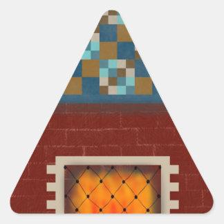 Fire at midnight triangle sticker