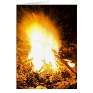 Fire At Night Greeting Cards