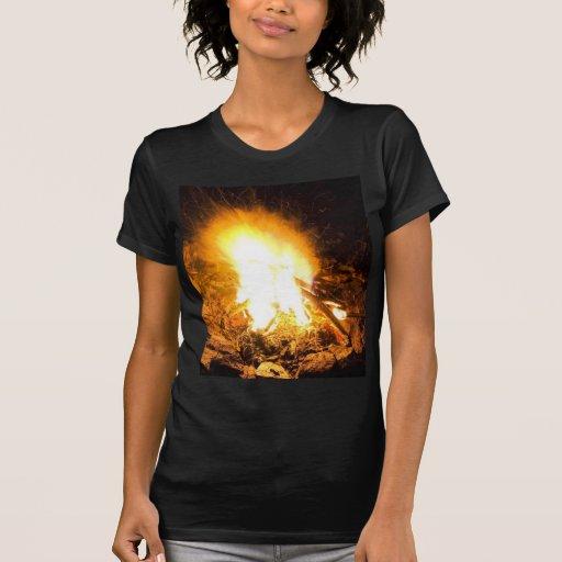 Fire At Night Tee Shirt