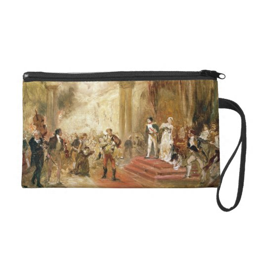Fire at the Austrian Embassy (oil on canvas) Wristlet