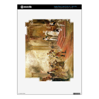 Fire at the Austrian Embassy (oil on canvas) iPad 3 Decal