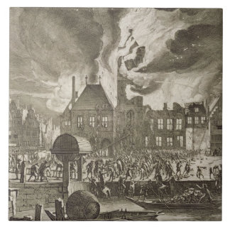 Fire at the old Amsterdam Town Hall, 17th July 165 Ceramic Tile