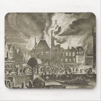 Fire at the old Amsterdam Town Hall, 17th July 165 Mouse Pad