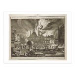 Fire at the old Amsterdam Town Hall, 17th July 165 Postcard
