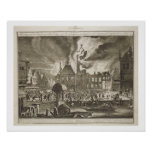 Fire at the old Amsterdam Town Hall, 17th July 165 Print