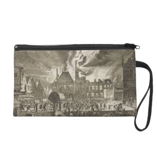 Fire at the old Amsterdam Town Hall, 17th July 165 Wristlet Purse