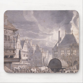 Fire at the Old Town Hall in Amsterdam Mouse Pad