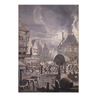 Fire at the Old Town Hall in Amsterdam Posters