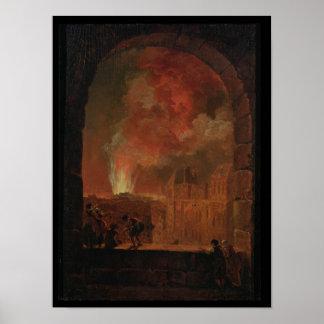 Fire at the Opera of the Palais-Royal Poster